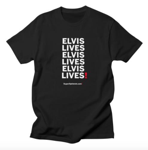 Elvis Lives! anagram t-shirt